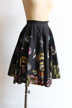 Load image into Gallery viewer, 1950s Singing Cowboy + Birds Hand-Painted Mexican Full Circle Skirt