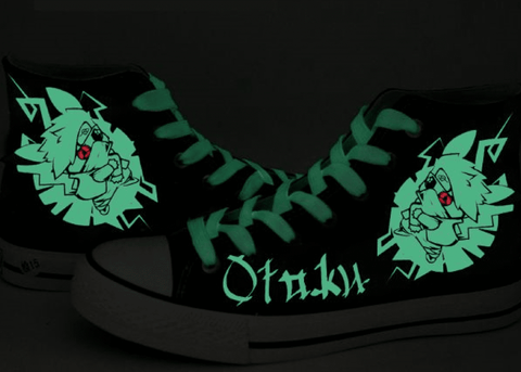 Anime Shoes High Top Sneakers Limited Edition Glow in the Dark Pikashi Kickz