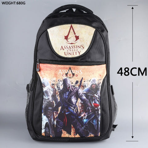 Assassin's Creed pu backpack bag