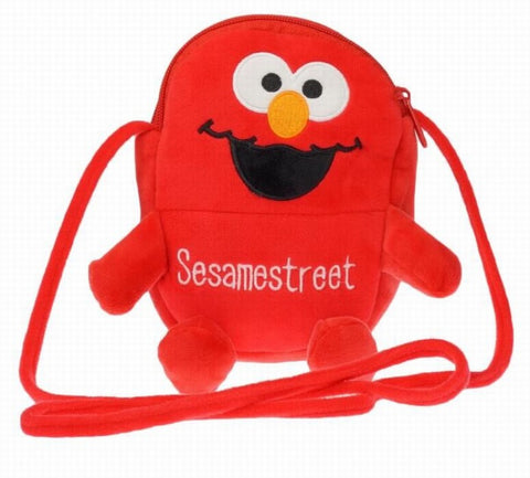 Sesame Street ELMO Cartoon anime plush backpack 18CM Style B