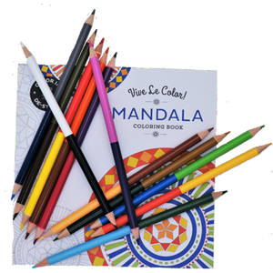 Coloring Book & Colored Pencils