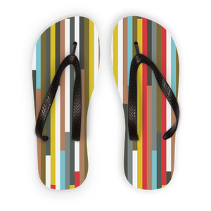 Abstract Art Adult Flip Flops