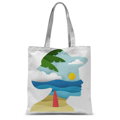 Beach Face Tote Bag