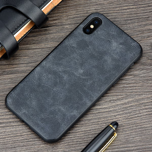 Luxury Leather Case for iPhone X