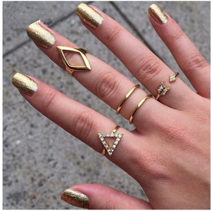 Fashion Vintage Punk Midi Rings Set