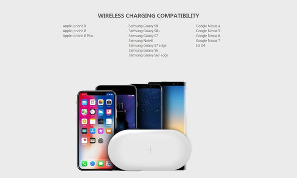QI Wireless Charger & Power Bank for iphone and Samsung