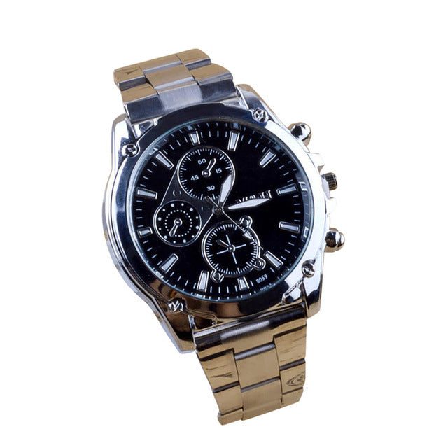 Mens Watch Stainless Steel Sport Quartz