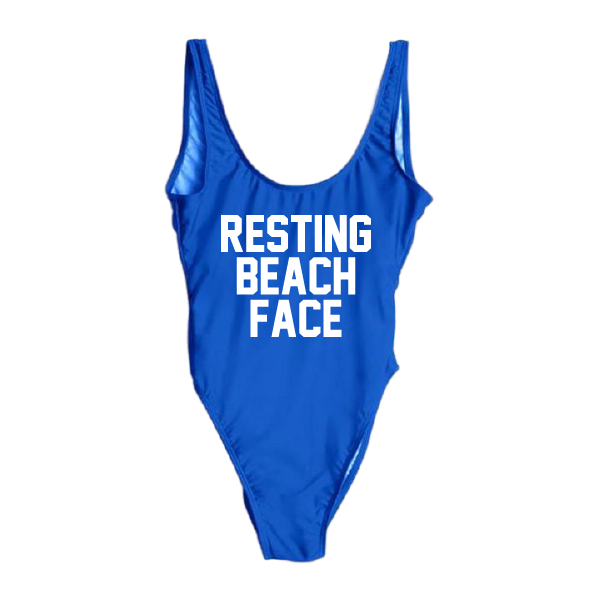 Resting Beach Face One Piece