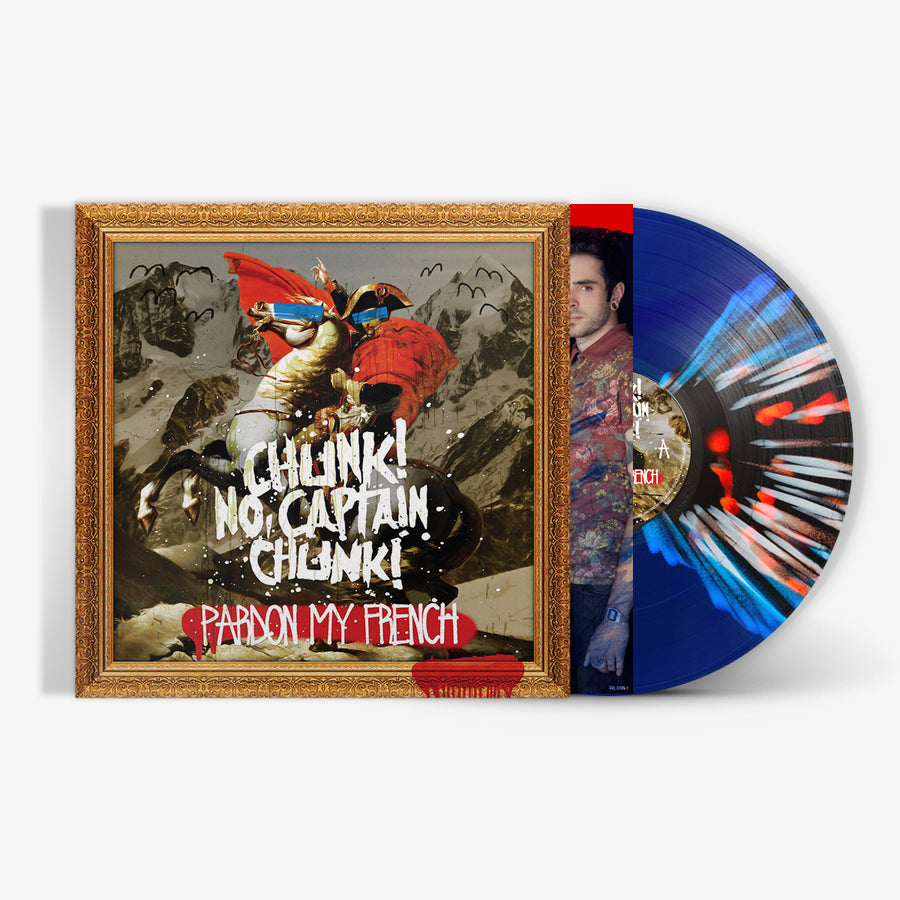 Chunk! No, Captain Chunk! - Pardon My French (Blue/Black Transparent Butterfly with Red & White Splatter LP)
