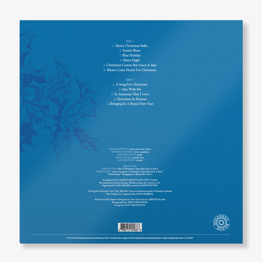 Charles Brown - Charles Brown's Cool Christmas Blues (White & Blue Marble LP)