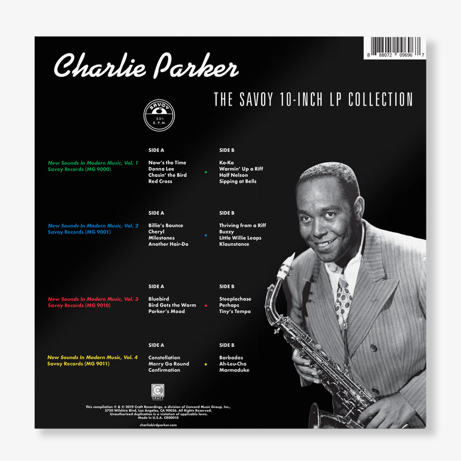 Charlie Parker - The Savoy 10-Inch LP Collection (4-LP Box Set)