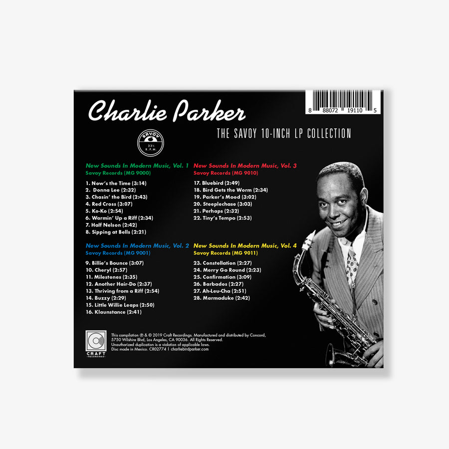 Charlie Parker - The Savoy 10-Inch LP Collection (CD Box Set) + Savoy T-Shirt Bundle