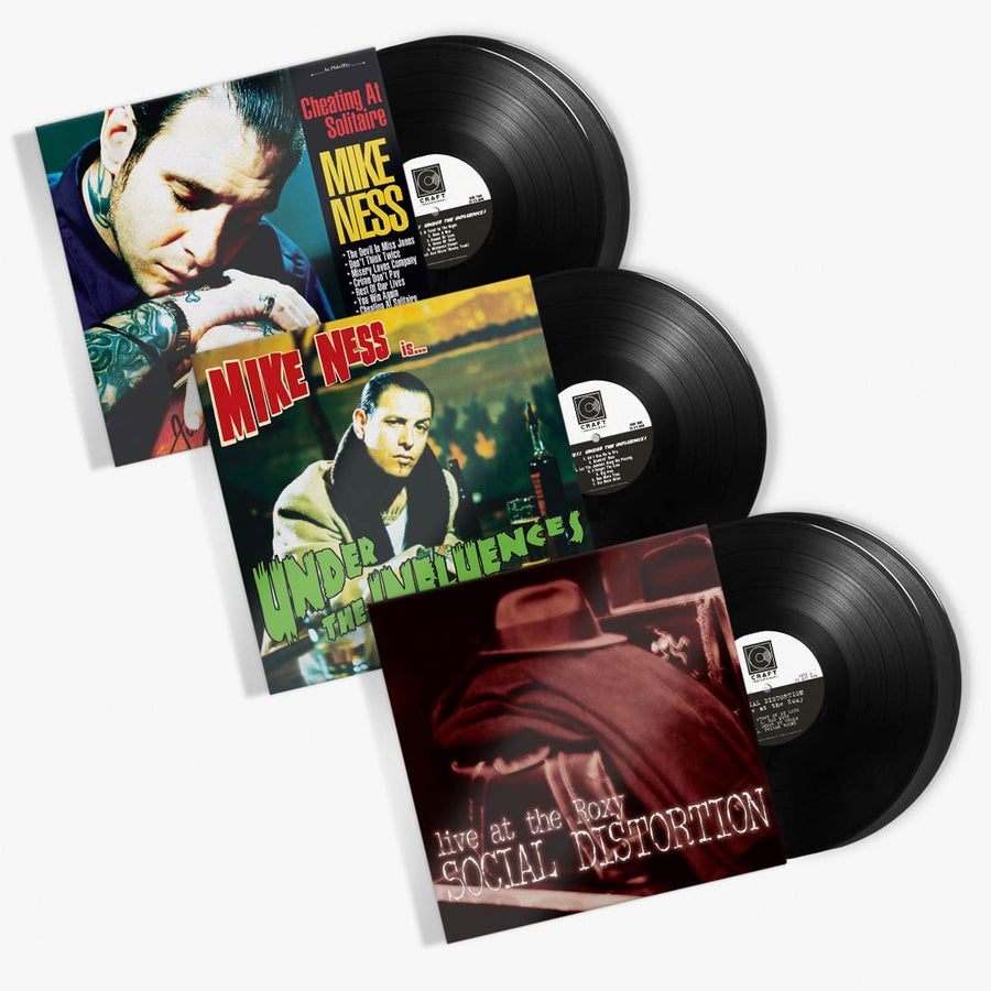 Social Distortion & Mike Ness - Vinyl Bundle (LIVE AT THE ROXY / CHEATING AT SOLITAIRE / UNDER THE INFLUENCES )