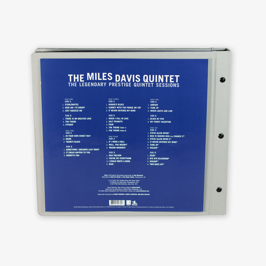 Miles Davis - The Legendary Prestige Quintet Sessions (180 Gram 6-LP) with Exclusive Prestige Records Cork Slipmat
