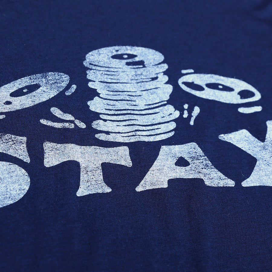 Blue Navy Falling Records Stax T-Shirt