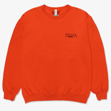 Fania Crew Neck Orange Sweatshirt (Wacko Maria)