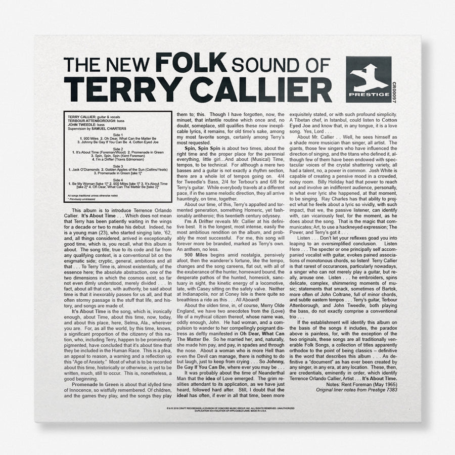 Terry Callier - The New Folk Sound (Deluxe Edition LP)