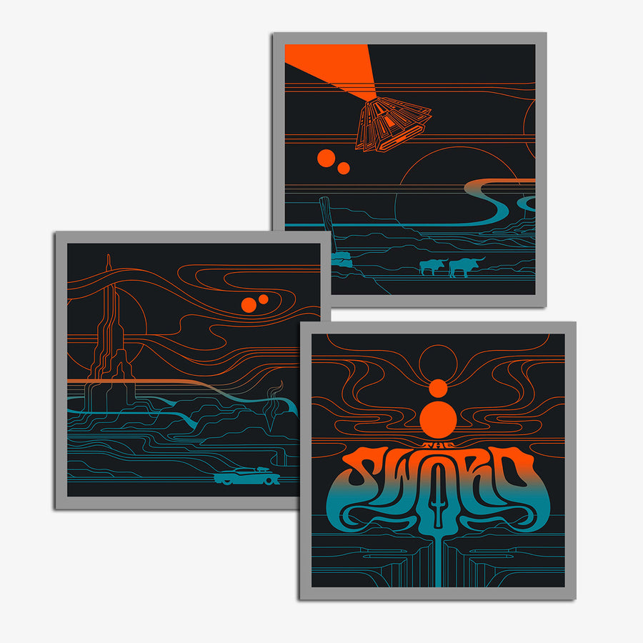 The Sword - Screen-printed Poster Set + Conquest of Kingdoms (Digital Album Bundle)