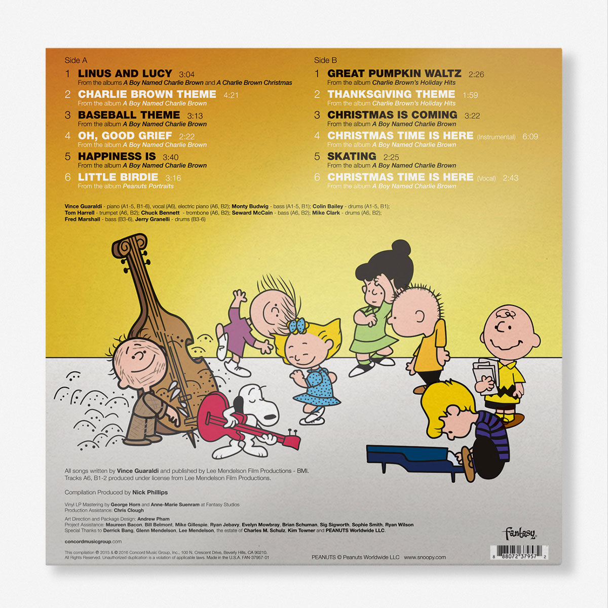 Vince Guaraldi Trio Peanuts Greatest Hits Picture Disc