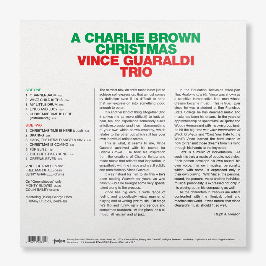 Vince Guaraldi Trio - A Charlie Brown Christmas (Green LP)