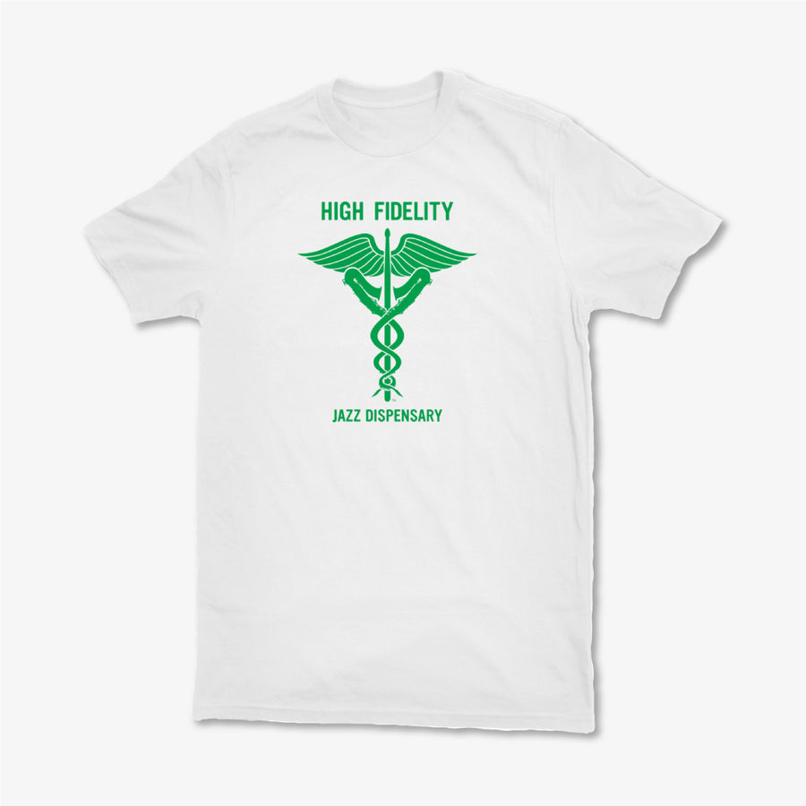Jazz Dispensary High Fidelity White T-Shirt