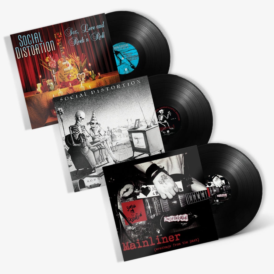 Social Distortion - Vinyl Bundle (Mommy's Little Monster / Sex, Love and Rock 'N' Roll / Mainliner)
