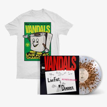 The Vandals - Live Fast Diarrhea (Explosive Brown Splatter LP) + T-Shirt Bundle