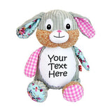 Harlequin Bunny with Embroidery - SimplyNameIt
