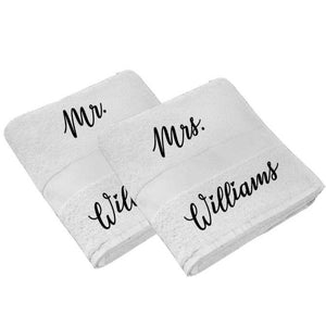 Last Name Towels