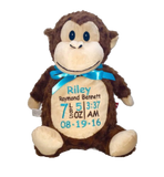 Monkey with Embroidery - SimplyNameIt