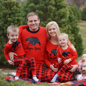 Adult Family Bear Plaid Pajamas - SimplyNameIt