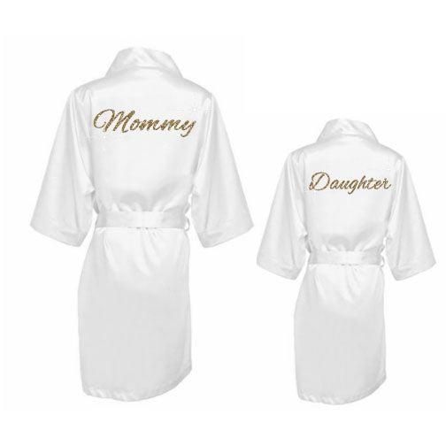 Mommy and Me Satin Robes - SimplyNameIt