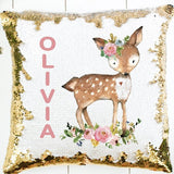 Deer Sequin Pillow - SimplyNameIt