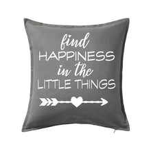 Find Happiness in the Little Things Pillow - SimplyNameIt