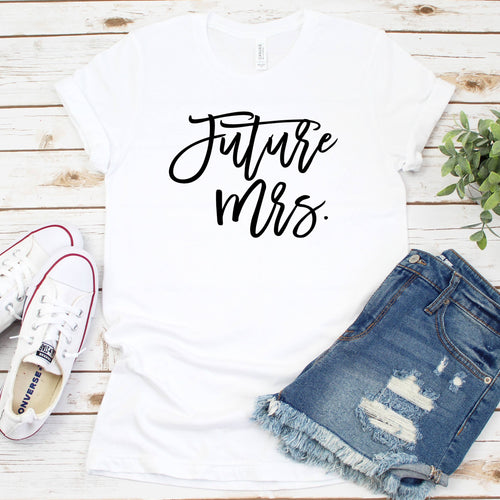 Personalized Future Mrs Crew Neck T-Shirt - SimplyNameIt