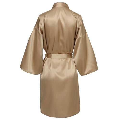 Champagne Satin Robe - SimplyNameIt
