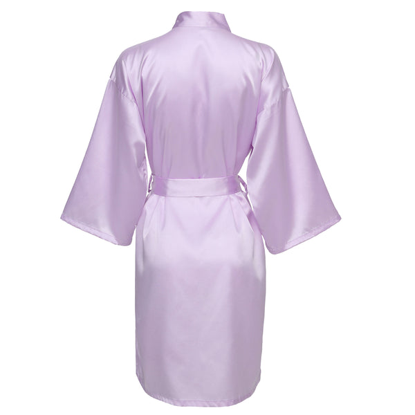 Lavender Satin Robe - SimplyNameIt