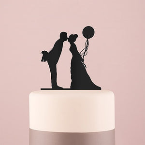 Leaning in Silhouette Cake Topper - SimplyNameIt