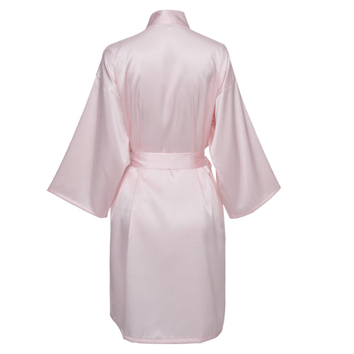 Blush Satin Robe