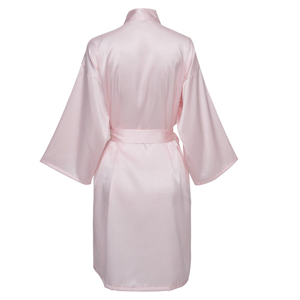 Blush Satin Robe - SimplyNameIt
