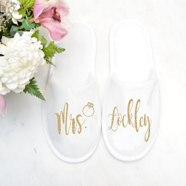 Closed Toe Slippers with Ring - SimplyNameIt