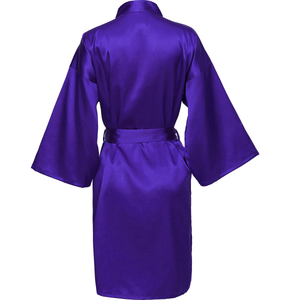 Purple Satin Robe - SimplyNameIt