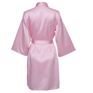 Pink Satin Robe - SimplyNameIt