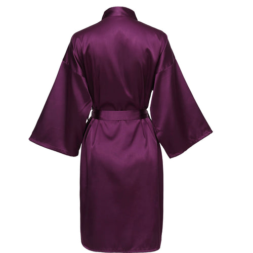 Plum Satin Robe