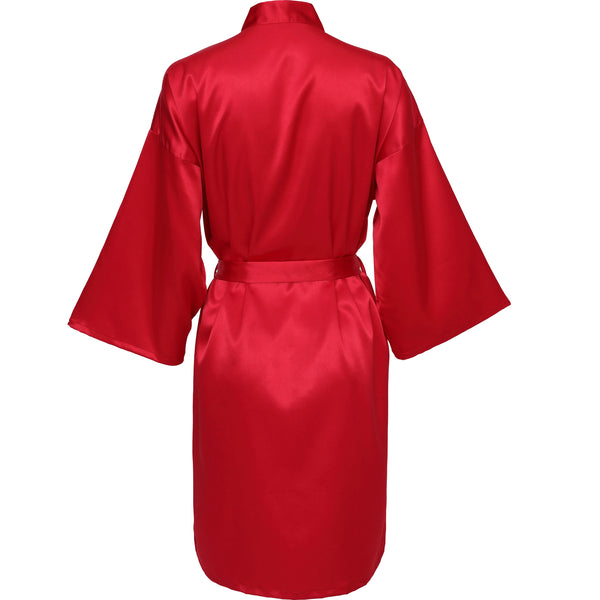 Red Satin Robe - SimplyNameIt