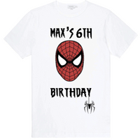 Spiderman Birthday Shirt - SimplyNameIt