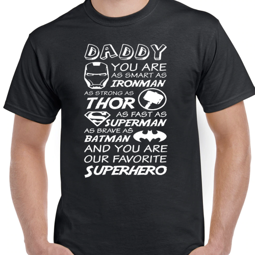 Superhero dad T-Shirt - SimplyNameIt