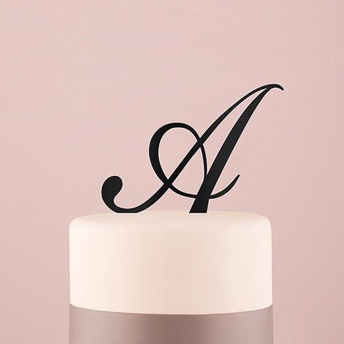 Script Letter Cake Topper - SimplyNameIt