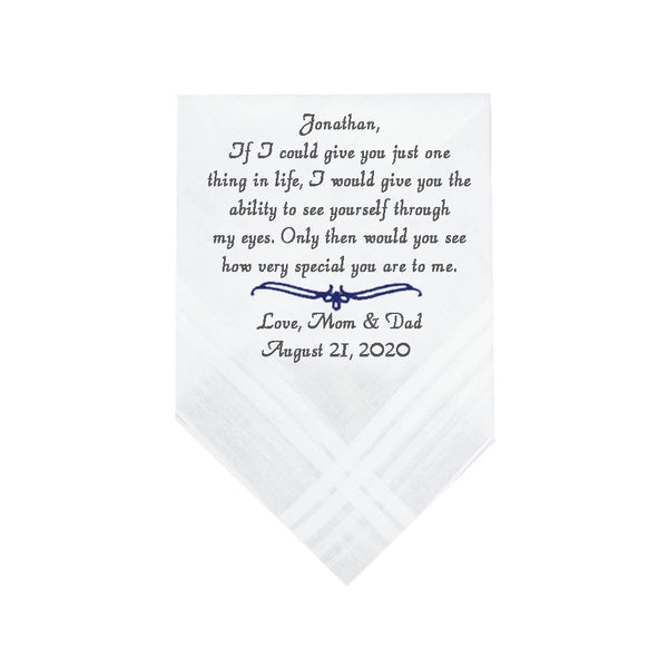 Wedding Handkerchief For Groom - SimplyNameIt