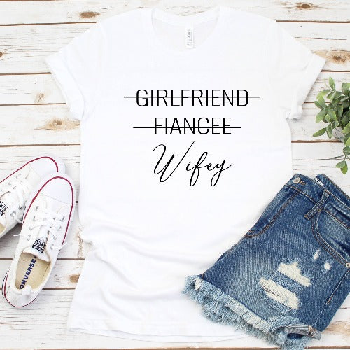 Wifey Crew Neck T-Shirt - SimplyNameIt